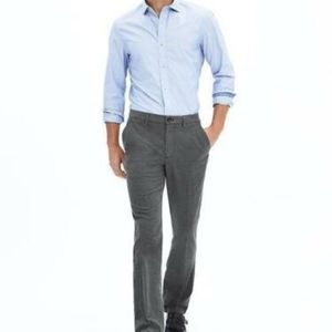 Kentfield Slim Herringbone Cotton dress Pant
